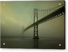 Mount Hope Bridge Acrylic Print by Dave Gordon
