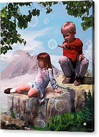 Acrylic Print featuring the painting Mount Innocence by Steve Karol