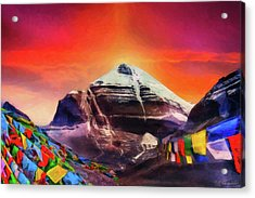 Mount Kailash - The Pillar Of The World Acrylic Print by Serge Averbukh