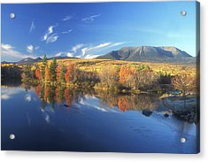Mount Katahdin From Abol Bridge Acrylic Print