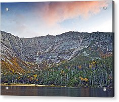 Mount Katahdin From Chimney Pond In Baxter State Park Maine Acrylic Print by Brendan Reals