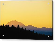 Mount Lassen At Sunset Acrylic Print