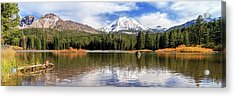 Acrylic Print featuring the photograph Mount Lassen Autumn Panorama by James Eddy