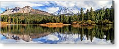 Acrylic Print featuring the photograph Mount Lassen Reflections Panorama by James Eddy