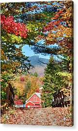 Acrylic Print featuring the photograph Mount Mansfield Seen Through Fall Foliage by Jeff Folger