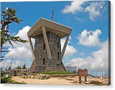 Mount Mitchell Summit Tower Acrylic Print by Steven Dillon
