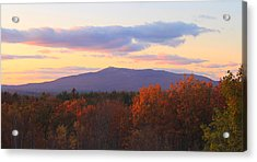 Mount Monadnock Autumn Sunset Acrylic Print by John Burk