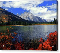 Acrylic Print featuring the photograph Mount Moran In The Fall by Raymond Salani III
