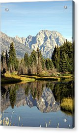 Mount Moran Reflections Acrylic Print by Marty Koch