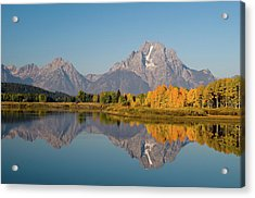 Acrylic Print featuring the photograph Mount Moran by Steve Stuller