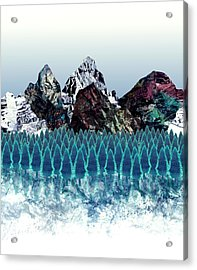 Mount North Acrylic Print by Varpu Kronholm