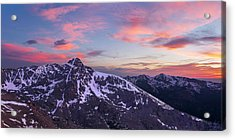 Mount Of The Holy Cross Panorama Acrylic Print by Aaron Spong