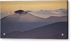 Mount Pisgah In Morning Light - Blue Ridge Mountains Acrylic Print by Rob Travis
