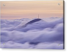 Mount Pisgah In The Clouds Acrylic Print by Rob Travis