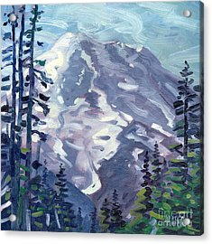 Mount Rainier From Sunrise Point Acrylic Print