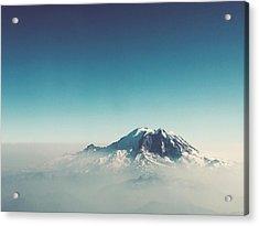 An Aerial View Of Mount Rainier Acrylic Print