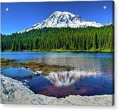Mount Rainier Reflection Acrylic Print