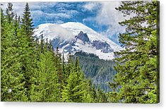 Acrylic Print featuring the photograph Mount Rainier View by Stephen Stookey