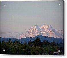 Mount Rainier Washington  Acrylic Print by Laurie Kidd
