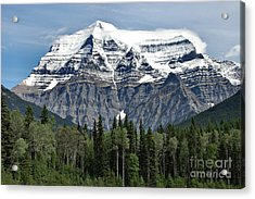 Mount Robson British Columbia Acrylic Print by Elaine Manley