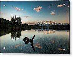 Mount Rundle And Two Jack Lake Acrylic Print