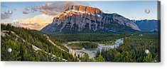 Mount Rundle Panorama Acrylic Print by Tomas Nevesely