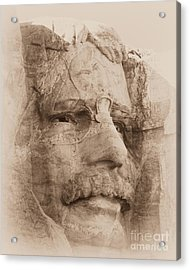 Mount Rushmore Faces Roosevelt Acrylic Print