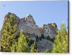 Mount Rushmore Framed With Trees 1 Acrylic Print by AMB Fine Art Photography