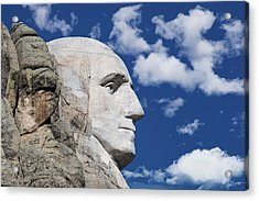 Mount Rushmore Profile Of George Washington Acrylic Print