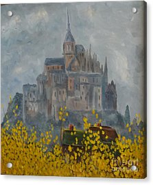 Acrylic Print featuring the painting Mount Saint Michael by Rod Ismay
