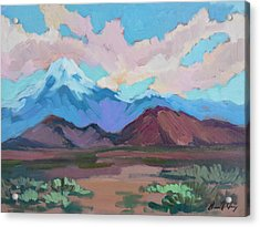 Acrylic Print featuring the painting Mount San Gorgonio by Diane McClary