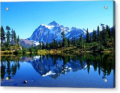 Mount Shuksan And Picture Lake Acrylic Print