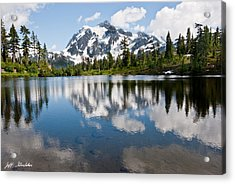 Mount Shuksan Reflected In Picture Lake Acrylic Print