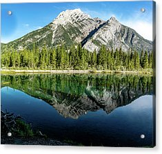 Mount Skogan Reflected In Mount Lorette Ponds, Bow Valley Provin Acrylic Print