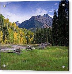 Mount Sneffels In Autumnn Acrylic Print