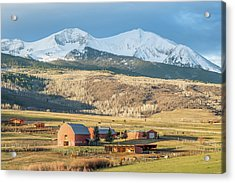 Acrylic Print featuring the photograph Mount Sopris Sunrise by Eric Glaser