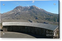 Acrylic Print featuring the photograph Mount St. Helen Memorial by Larry Keahey