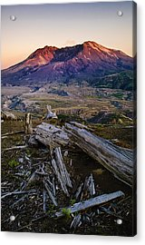 Mount St. Helens Sunset Acrylic Print by Greg Vaughn - Printscapes