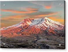 Mount St Helens Sunset Washington State Acrylic Print