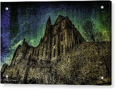 Acrylic Print featuring the photograph Mount St Michael Unreal by Karo Evans