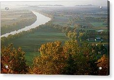 Mount Sugarloaf Autumn Morning Acrylic Print by John Burk