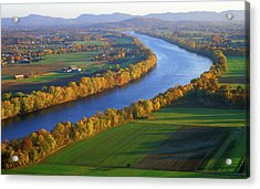 Mount Sugarloaf Connecticut River Acrylic Print by John Burk