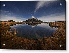 Mount Taranaki Acrylic Print by Yan Zhang