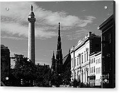 Mount Vernon Skyline Baltimore Acrylic Print