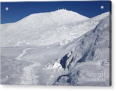 Mount Washington - White Mountain New Hampshire Usa Winter Acrylic Print
