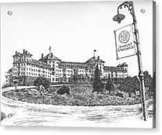 Mount Washington Hotel Number One Acrylic Print