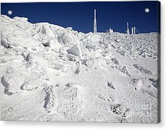 Mount Washington New Hampshire - Rime Ice Acrylic Print by Erin Paul Donovan
