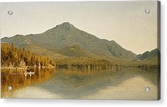 Mount Whiteface From Lake Placid Acrylic Print by Albert Bierstadt