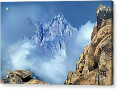 Mount Whitney Clearing Storm Eastern Sierras California Acrylic Print