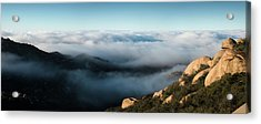 Mount Woodson Clouds Acrylic Print by William Dunigan